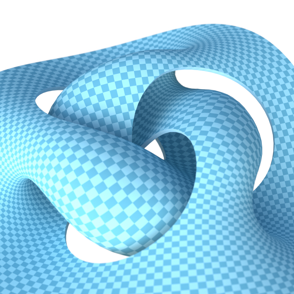 Illustration of mathematically constrained geometric form